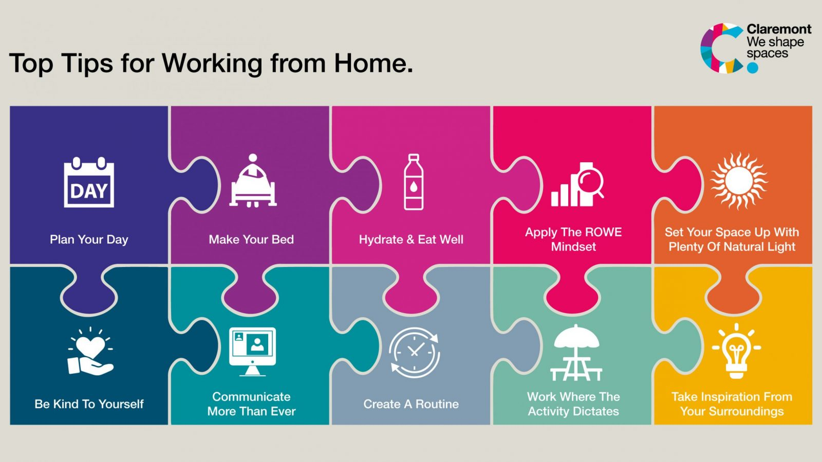 Our top 10 tips for working from home.